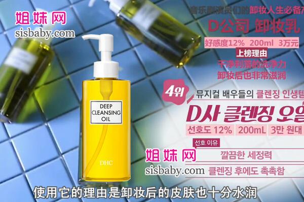 第四名:DHC 橄榄卸妆油